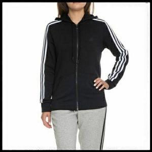 ⭐SALE⭐ Adidas Three Stripe Zip Up H…